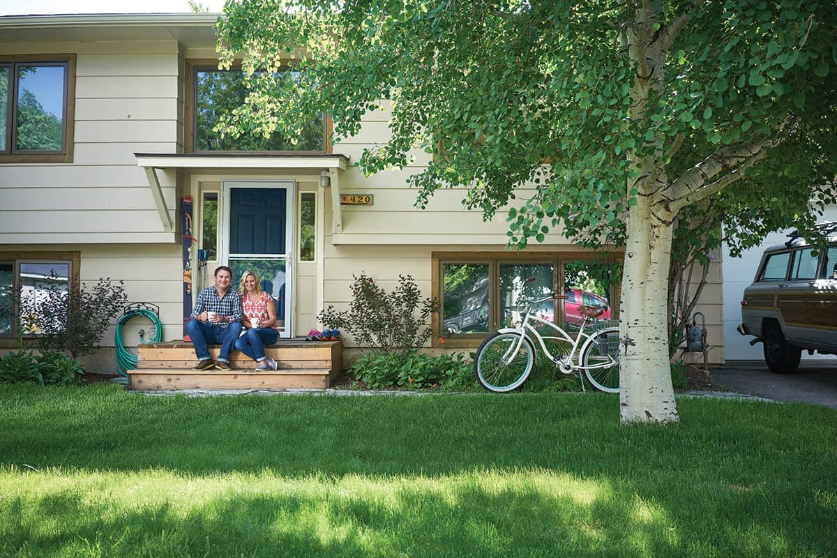 Sally and Mike Brin outside of their Boise Cascade modular home. It was built in 1973, and the couple remodeled it in 2015.
