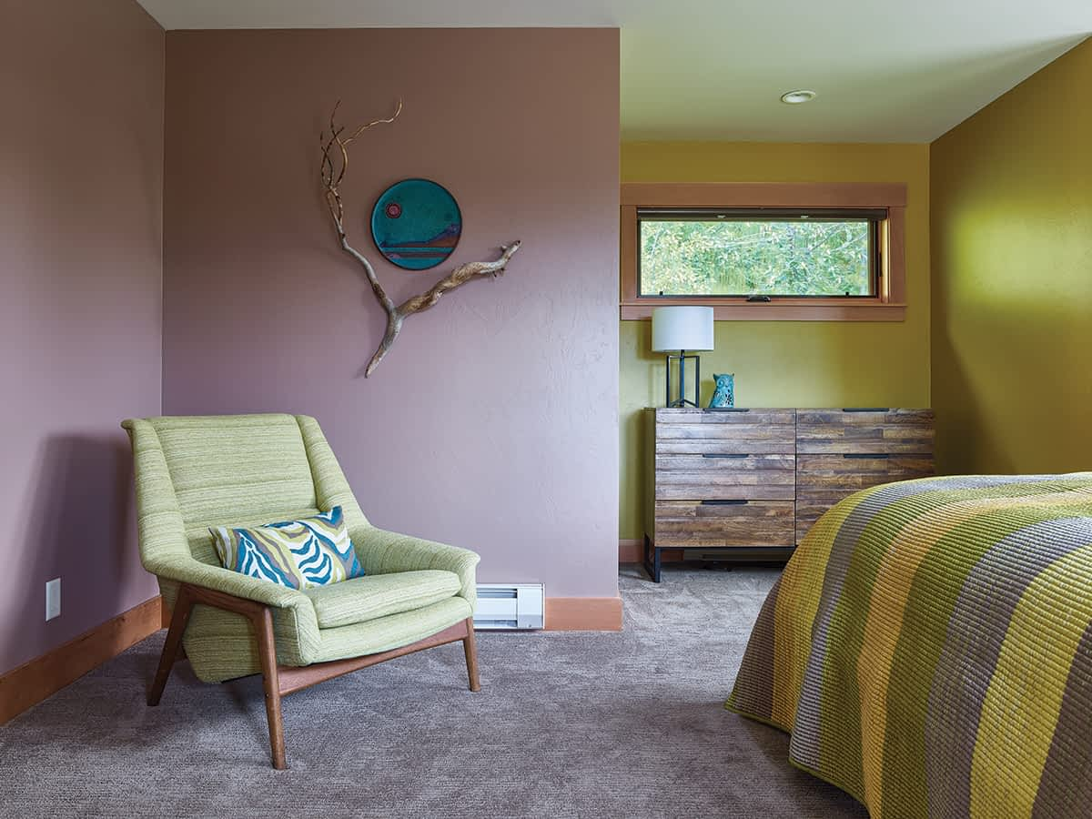 Architect Chris Moulder placed the windows in the master suite, one of the areas that was added to the existing home, to capture views and allow for furniture.
