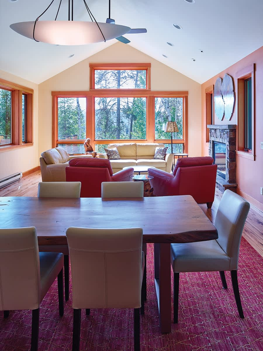 """The Wongs did not want the remodeled house to be """"over-the-top decorated."""" They wanted simple and comfortable, and for the interiors to speak to the area's western character."""