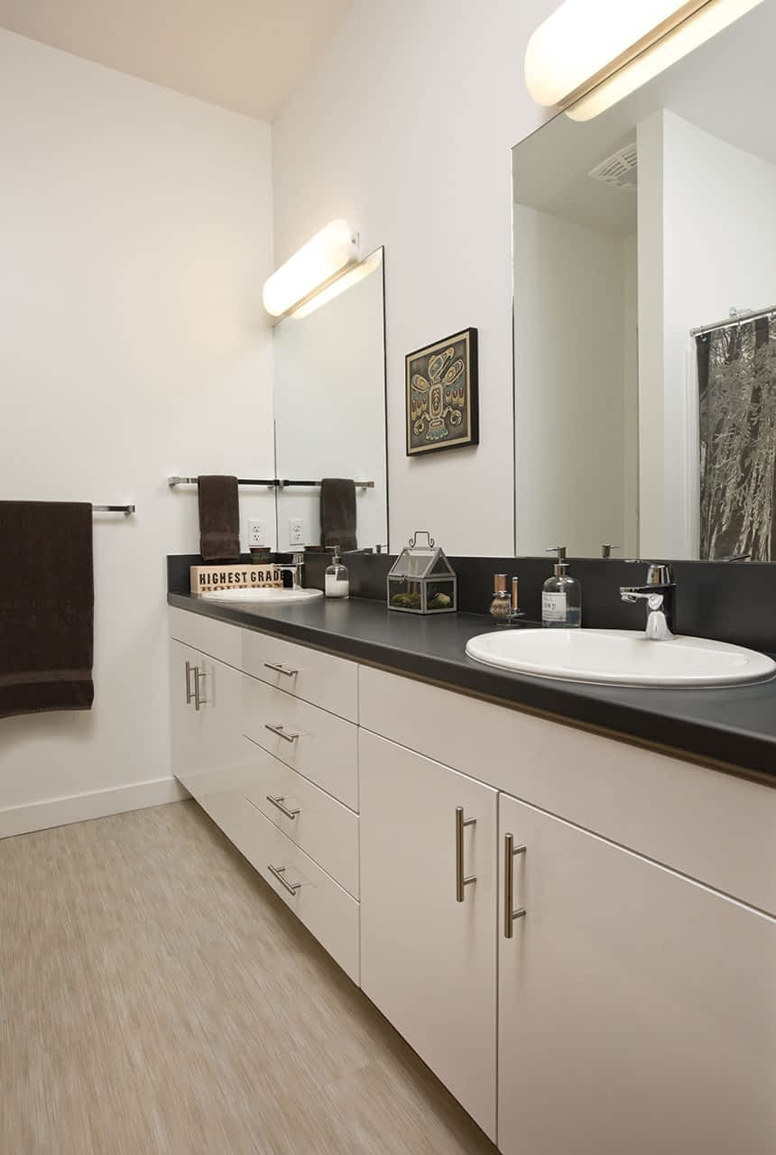 The cabinetry in all of the apartments is from IKEA.