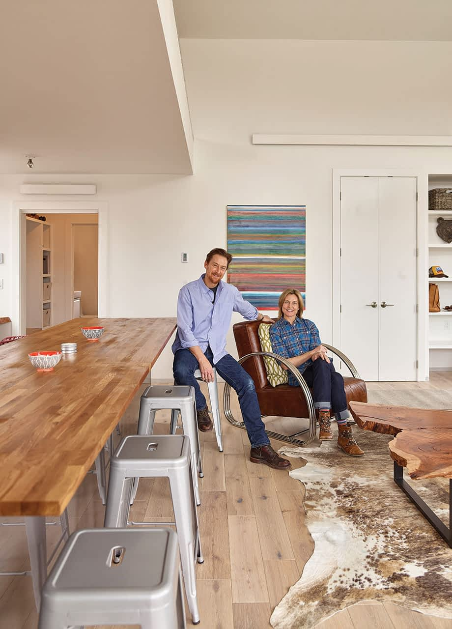 Sarah and Miller Bushong initially planned this 800-square-foot structure to be an accessory to a main house that would be built in the future. Now that they've lived in it, though, they're not sure they need more space.