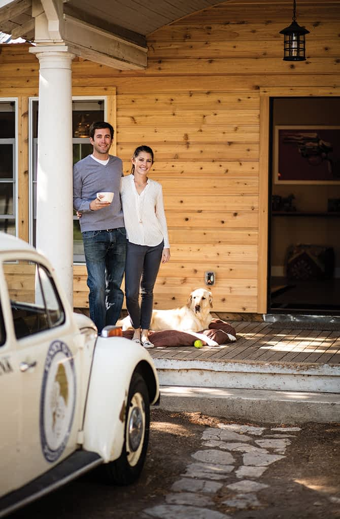 Kristin Frappart and Tom Fay spent six months remodeling a 1,200-square-foot East Jackson bungalow built in 1925. (When we photographed them, they still had to paint the siding, in Sherwin-Williams flagstone, a charcoal grey).