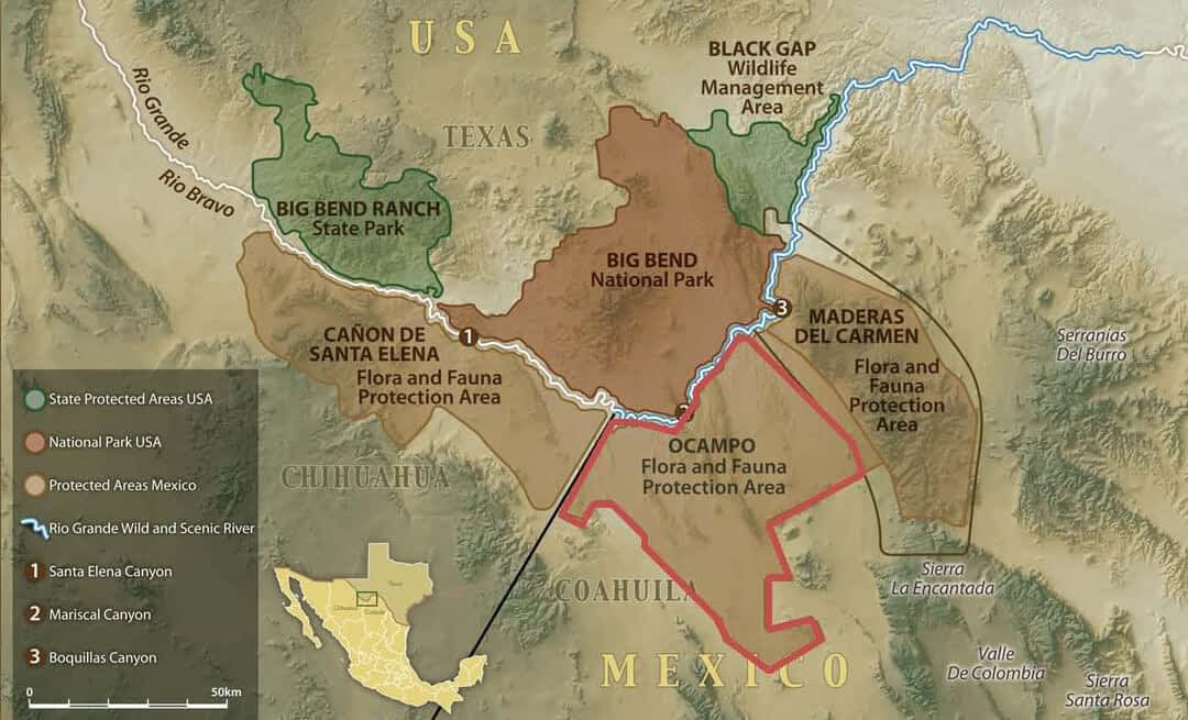 US President Obama and Mexican President Calderon announce Transboundary Protected Area