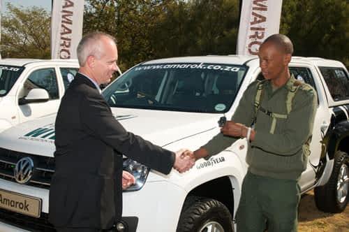 Volkswagen Amarok drives the Rhino Protection Initiative