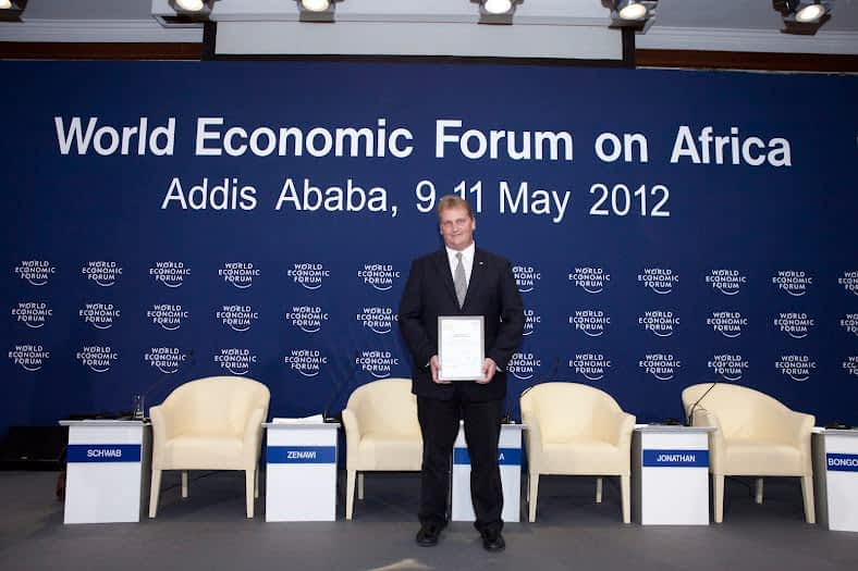 Andrew Muir Awarded at World Economic Forum on Africa