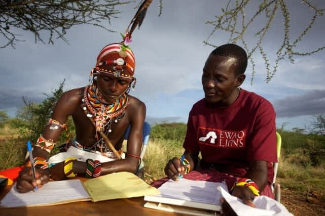 Samburu warriors as ambassadors for lion conservation