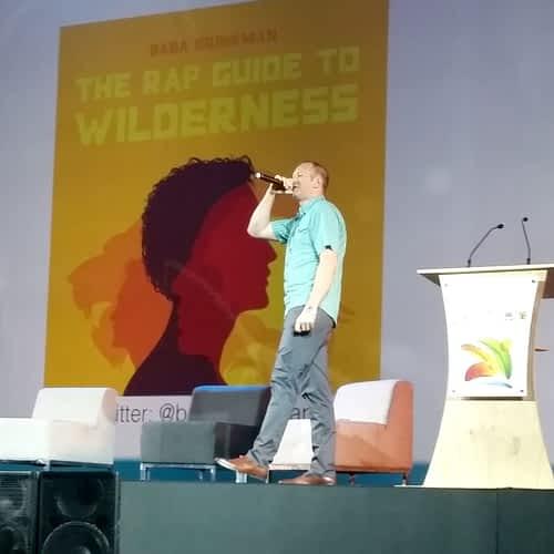 Baba Brinkman performing at the WPC