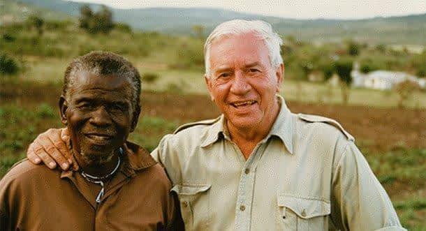 Magquba Ntombela and Dr Ian Player