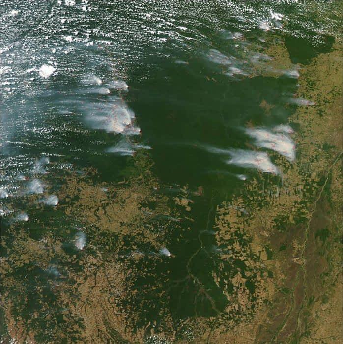 Satellite image of Kayapo lands