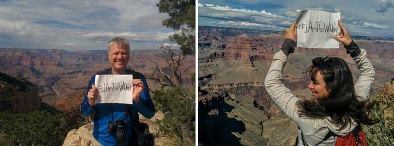 Harvey Locke and Marie-Eve Marchand in the Grand Canyon