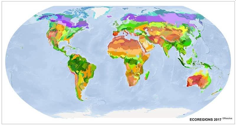 ecoregions map 2017