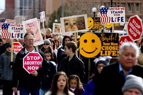 A 2012 anti-abortion march in Cheyenne (photo: James Brosher)