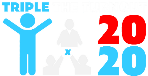Triple the vote logo