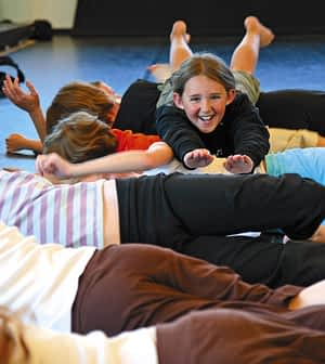 Jackson students in a Mobius class. Mobius creator Amelia Terrapin is developing a movement workshop for adults based on systems in nature Photo: Erik Lindquist