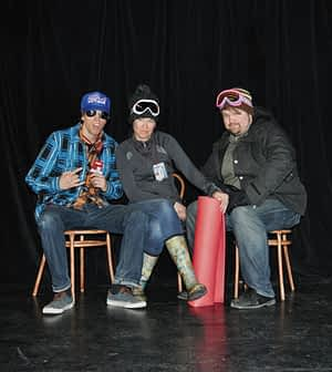 Josh Griffith, Kjera Strom-Henrie and Andrew Munz in 'I Can Ski Forever.' Photo credit: Mary Grossman