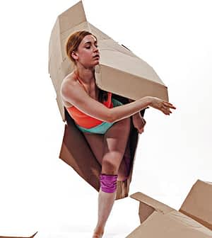 Modern dance company, Gallim, explores the mystery of boxes Photo TOM CARAVAGLIA