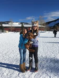 Happy family at the Winter Dog Park!